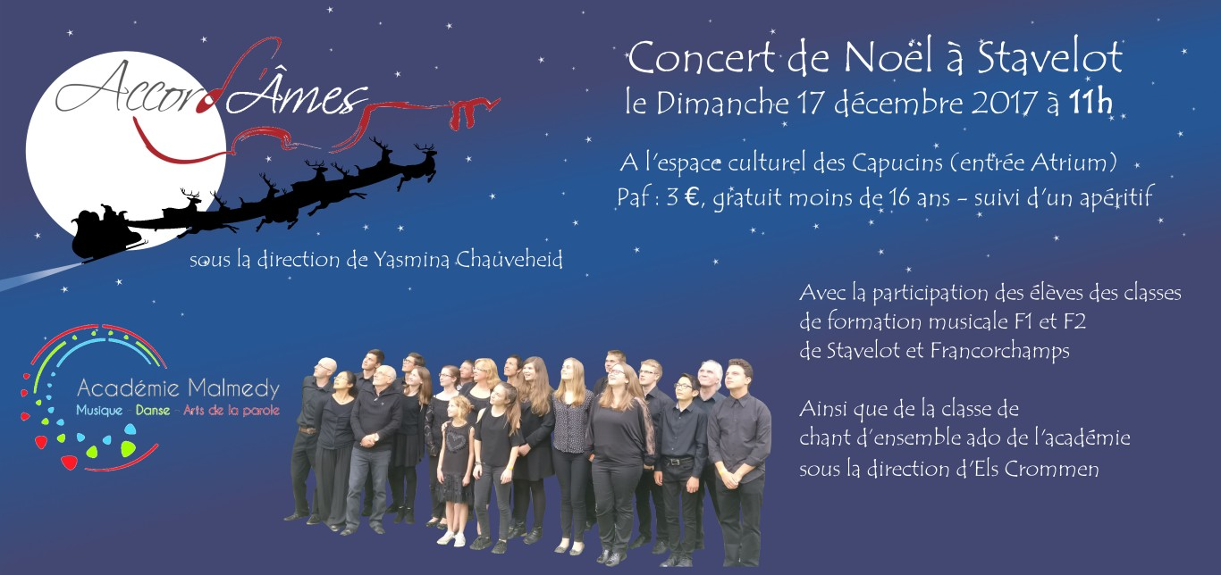 Concert noel 2017 Accord'ames